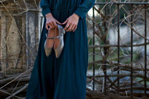 Merceditas Audrey plata envejecida de Bohemian Shoes