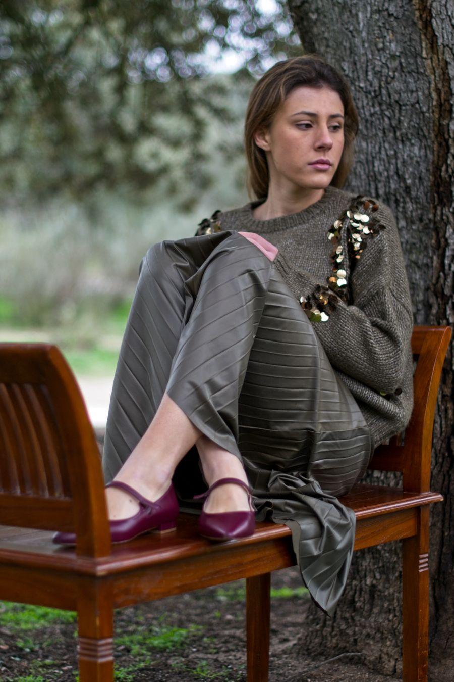 Mercedita Audrey de Bohemian Shoes en color burdeos