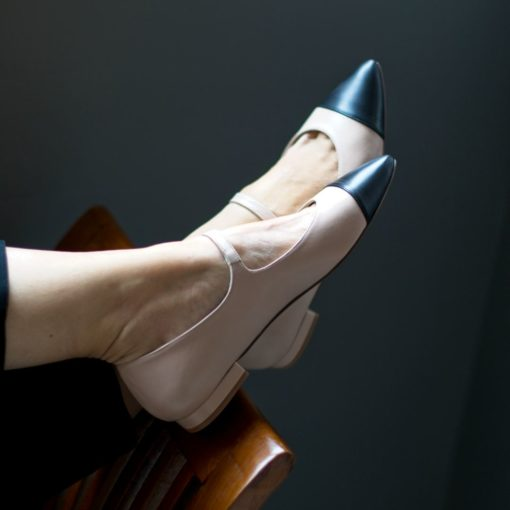 Marceditas MARGOT - Bicolor nude / negro de Bohemian Shoes