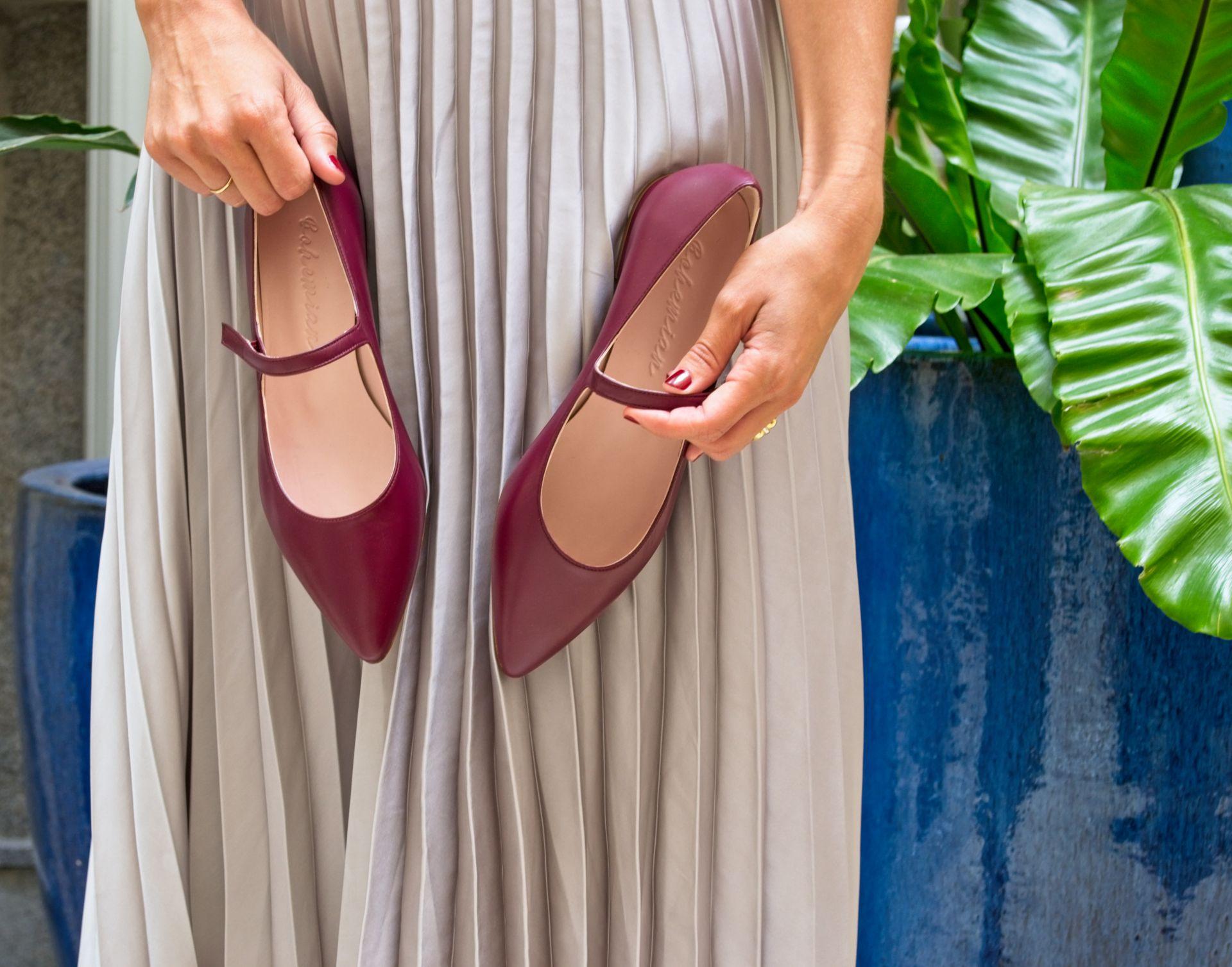 Merceditas Audrey burdeos de Behemian Shoes
