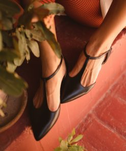Merceditas tipo T-bar modelo JULIETTE - Noir de Bohemian Shoes