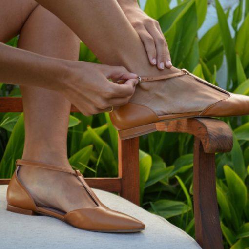 Merceditas JULIETTE - Camel de Bohemian Shoes