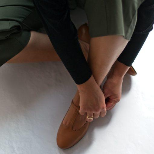 Mary Janes T-bar Odette cuero de Bohemian Shoes