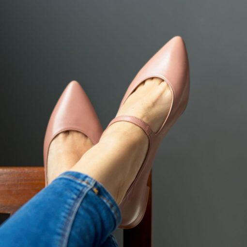 Mary Janes Audrey nude de Bohemian Shoes