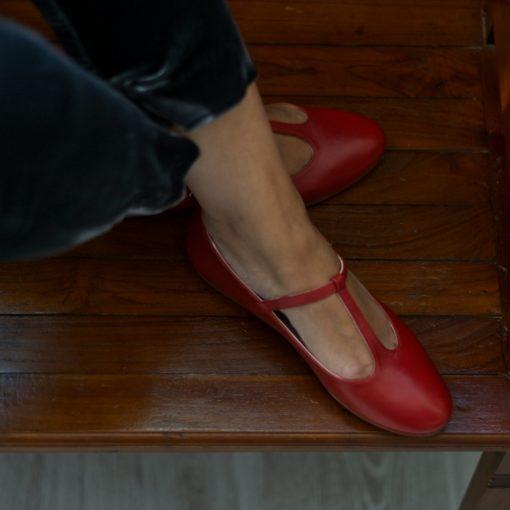 Mary Janes T-BAR ODETTE - Terracota de Bohemian Shoes