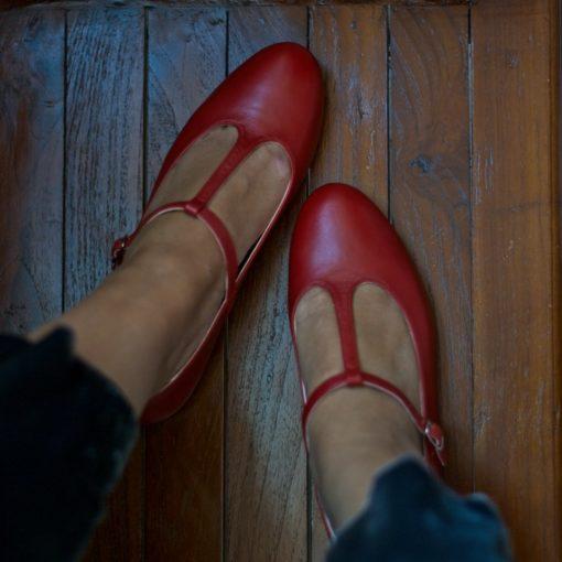 MERCEDITA T-BAR ODETTE - Terracota de Bohemian Shoes