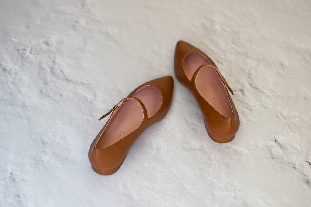 Mercedita Audrey en piel color cuero de Bohemian Shoes