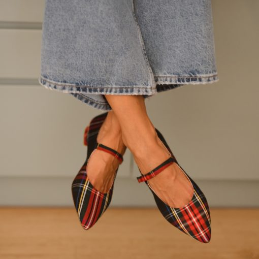 Merceditas AUDREY - Isle of Mann en cuadros escoceses de Bohemian Shoes