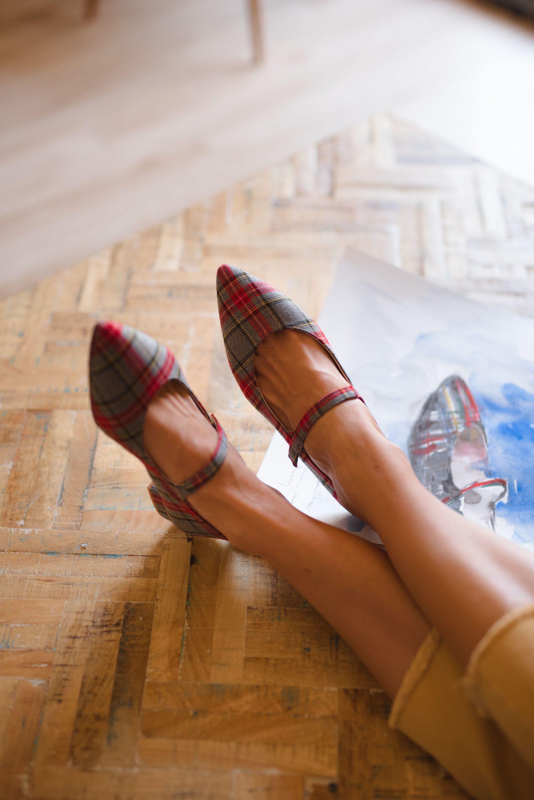 Merceditas Audrey de Bohemian shoes en tartán