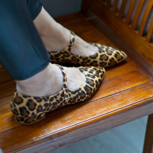 Zapato de mujer Mary Jane AUDREY - animal print Leopardo