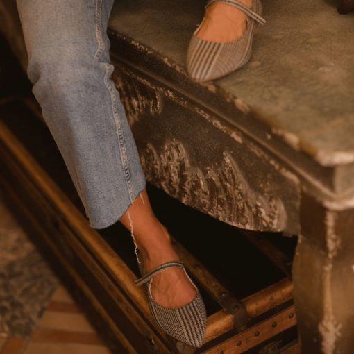 Mercedita Audrey - Isle of Alderney trama Príncipe de Gales de Bohemian Shoes