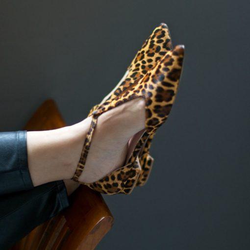 Mary Janes JULIETTE - animal print Leopardo