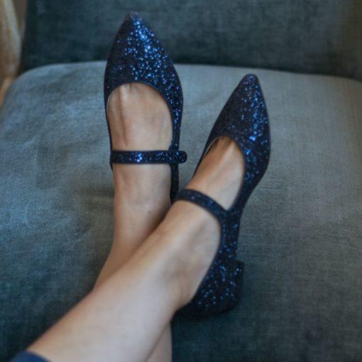 Merceditas AUDREY - Edición Especial Night Blue Glitter de Bohemian shoes