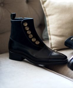 VICTORIA BOOTS - BLACK LEATHER