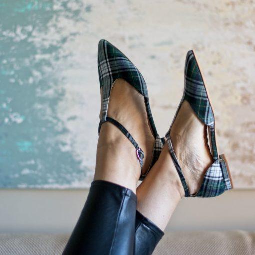 Mary Janes en cuadros escoceses modelo JULIETTE - Isle of Skye de Bohemian Shoes