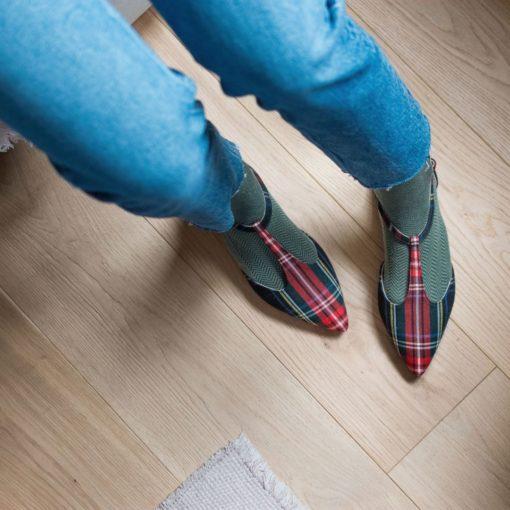 Merceditas en tartán JULIETTE - Isle of Wight de Bohemian Shoes