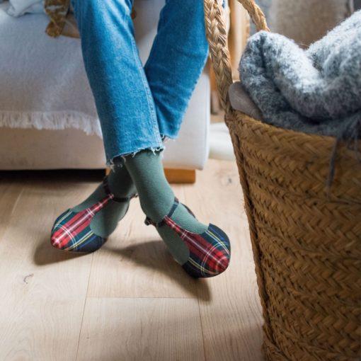 Mary Janes en tartán JULIETTE - Isle of Wight de Bohemian Shoes