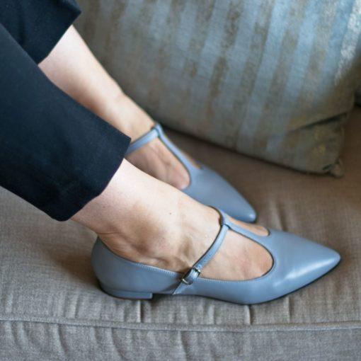 Mary Janes T-bar COSETTE - AZUL GRISÁCEO de Bohemian Shoes
