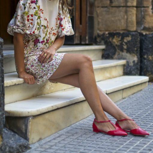 Mary Janes T-bar Juliette - Rojo Bohemian de Bohemain Shoes de Bohemian Shoes