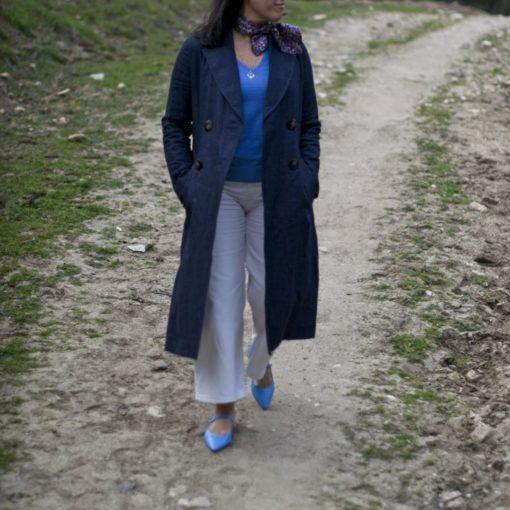 Mary Janes AUDREY - Baby blue de Bohemian Shoes