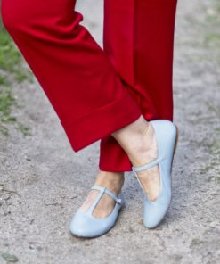 Mary Janes tipo T-bar modelo ODETTE - Azul Meditarráneo de Bohemian Shoes