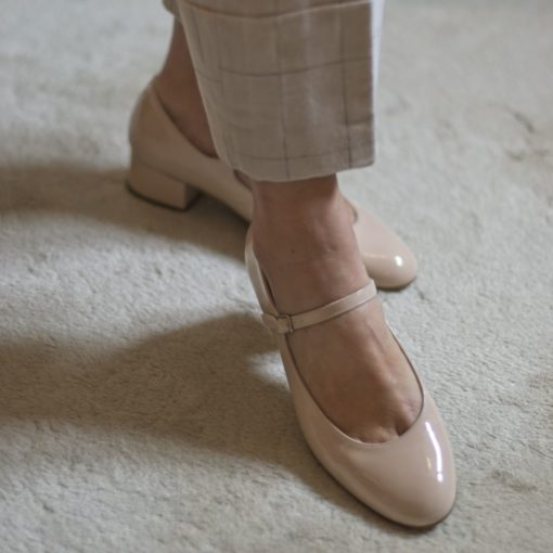 MERCEDITAS CHLOÉ - Charol nude de Bohemian Shoes