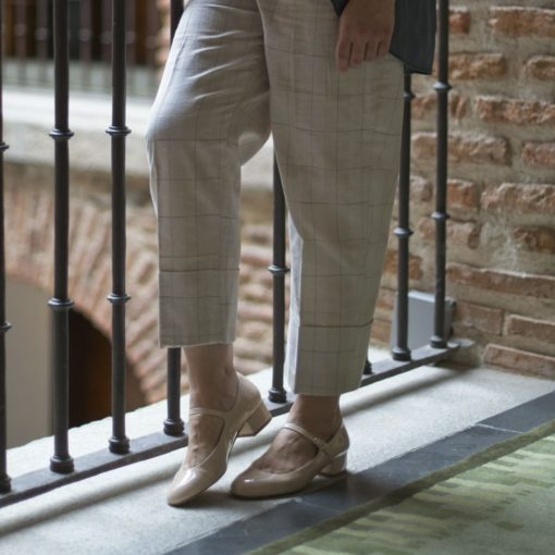 Mary Janes CHLOÉ - Charol nude de Bohemian Shoes