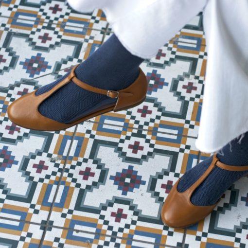 Mary Janes T-bar IVETTE - Cuero de Bohemian Shoes