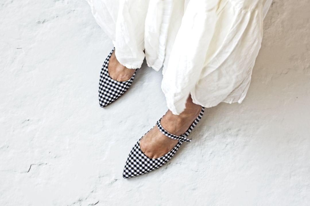 Mary Janes Audrey de Bohemian Shoes en cuadros Vichy negros