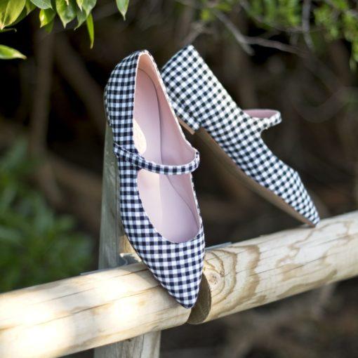 Merceditas AUDREY - Vichy Noir de Bohemian Shoes