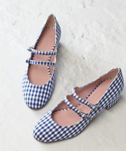 Nadine - Vichy azul