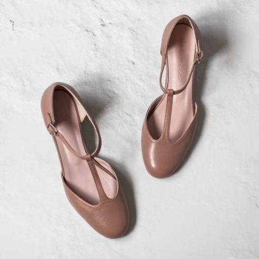 Merceditas ARIANNE - Maquillaje en napa y cuero legítimo de Bohemian Shoes
