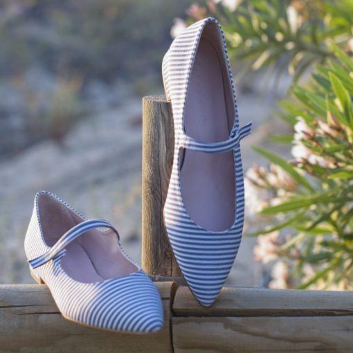 Merceditas AUDREY - Rayas marineras de Bohemian Shoes