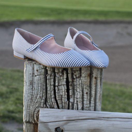 Mary Janes AUDREY - Rayas marineras de Bohemian Shoes