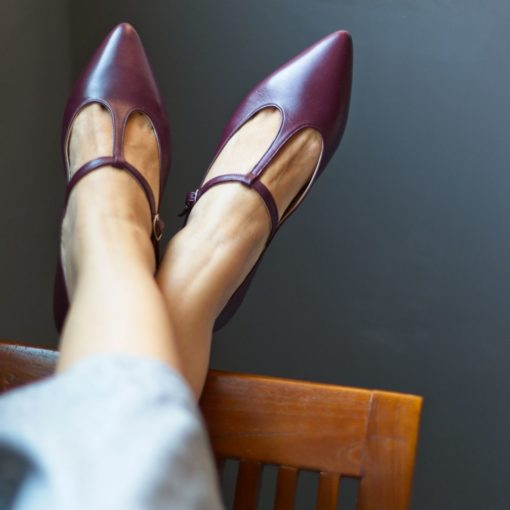 Merceditas Cosette - Burdeos de Bohemian Shoes