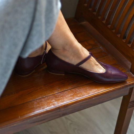 Mary Janes Cosette - Burdeos de Bohemian Shoes