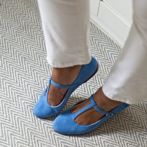 Zapatos de mujer ODETTE - Ante Azzurro de Bohemian Shoes