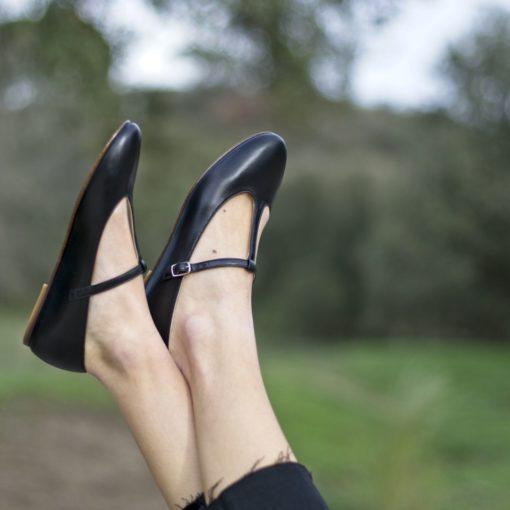 Mari Janes Odette - Negro de Bohemian Shoes