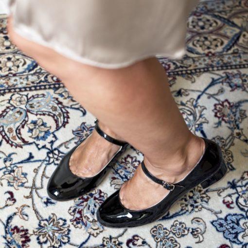 Mary Janes tacón midi CHLOÉ - Charol negro de Bohemian Shoes