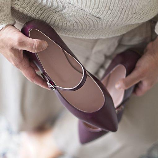 Merceditas AUDREY - Burdeos de Bohemian Shoes