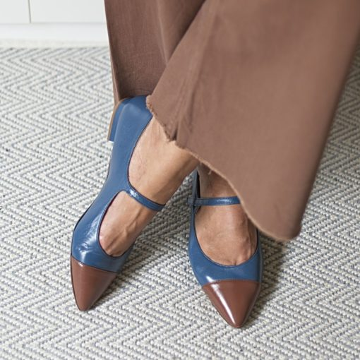 Merceditas MARGOT - Bicolor azul Bohemian / Chocolate de Bohemian Shoes