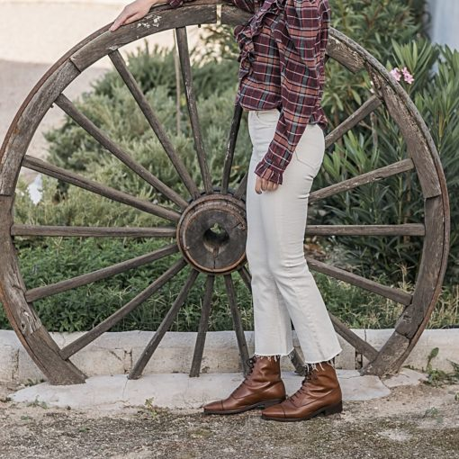 Botines Balmoral CAVALRY BROWN BOOTS de Bohemian Shoes